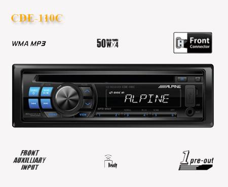 阿尔派CDE-110C音乐播放机 CD主机
