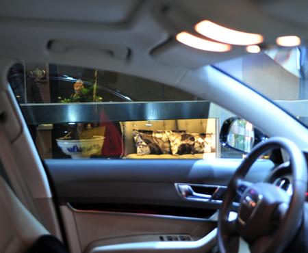 奥迪A6L玻璃贴膜 选用量子膜全车贴